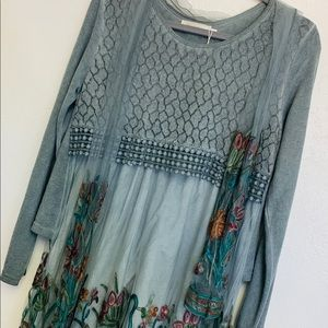 Simply Couture Dresses - Simple Couture Grey Floral Embroidered Dress